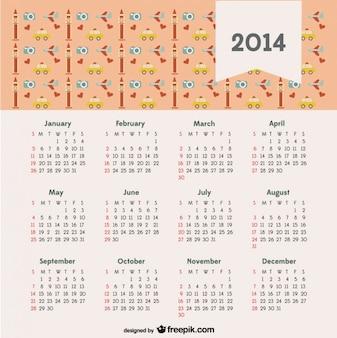 Calendário 2014 com o conceito de viagem londres