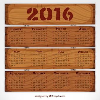 Calendário 2016 de madeira