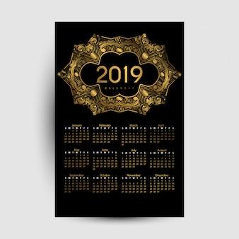 Calendário 2019 de luxo