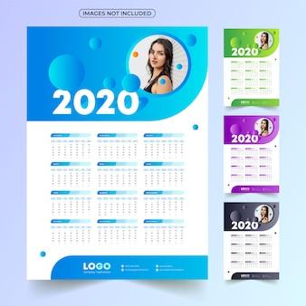 Calendário 2020 com imagem