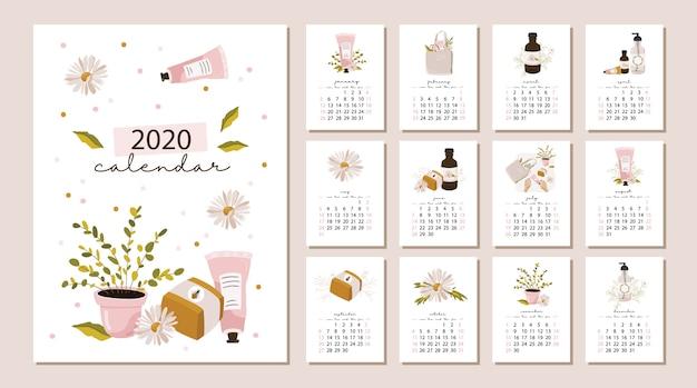 Calendário 2020.