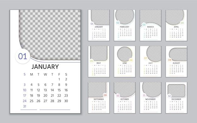 Calendário 2021 com moldura