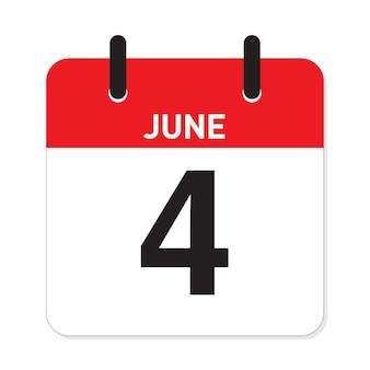 Calendário 4 de junho