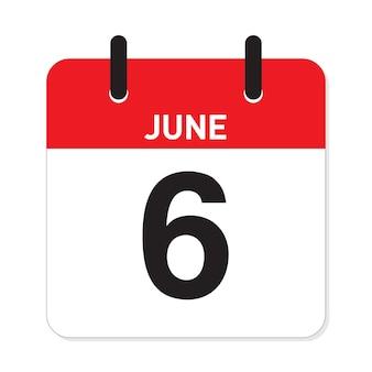 Calendário 6 de junho