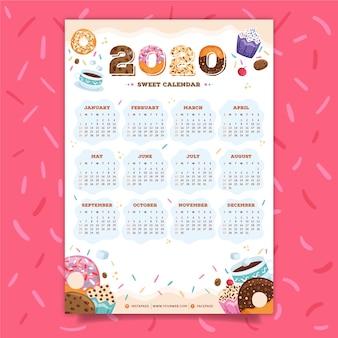 Calendário colorido 2020