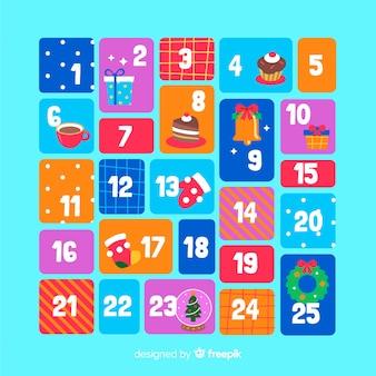 Calendário colorido do advento