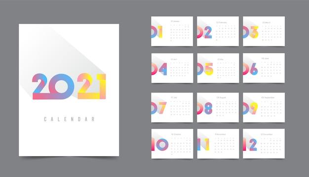 Calendário colorido
