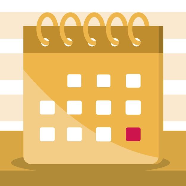 Calendário com uma marca