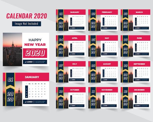 Calendário corporativo 2020