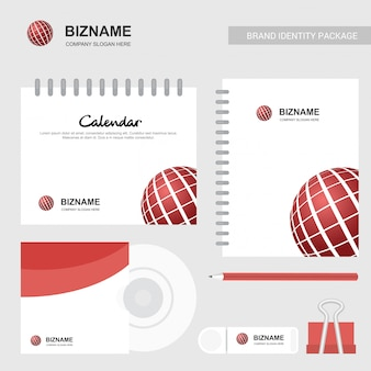 Calendário da empresa com um design exclusivo e logotipo vector