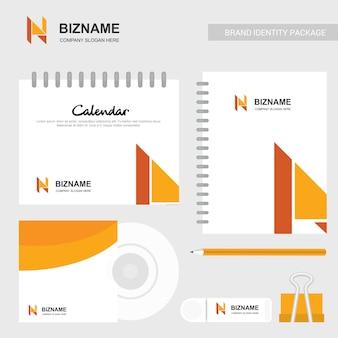 Calendário da empresa e design do diário