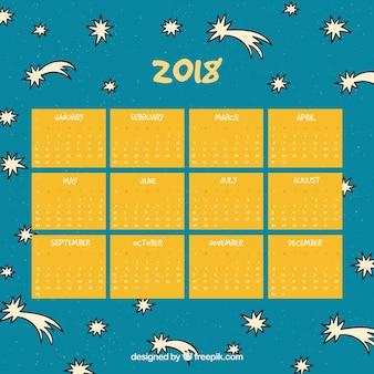 Calendário de 2015 desenhado mão desenhada