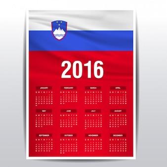 Calendário de 2016 da eslovénia