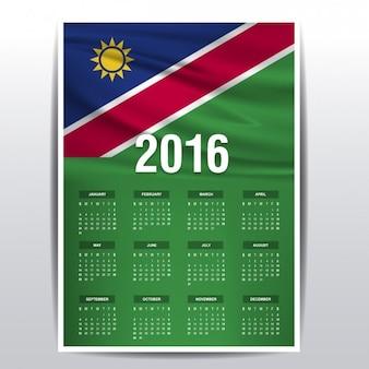 Calendário de 2016 namíbia