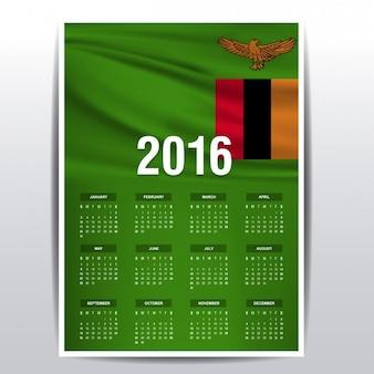 Calendário de 2016 zâmbia