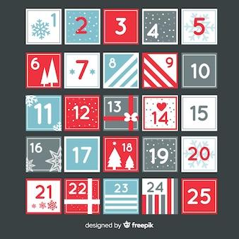 Calendário de advento moderno de natal