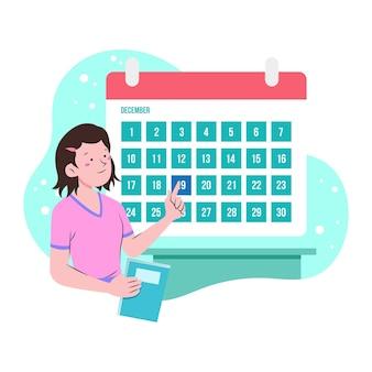 Calendário de agendamento