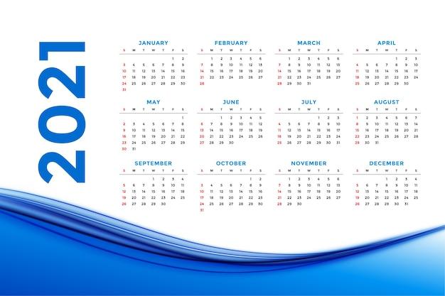 Calendário de ano novo elegante em estilo empresarial