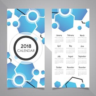 Calendário de design de cartaz