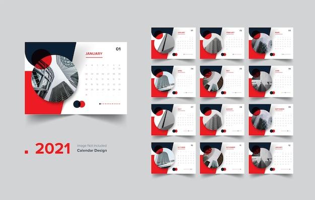 Calendário de design vermelho