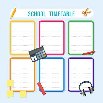 Calendário de escola de vetor