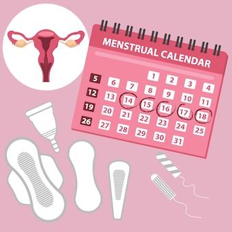 Calendário de menstruação