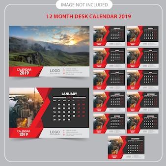 Calendário de mesa 2019