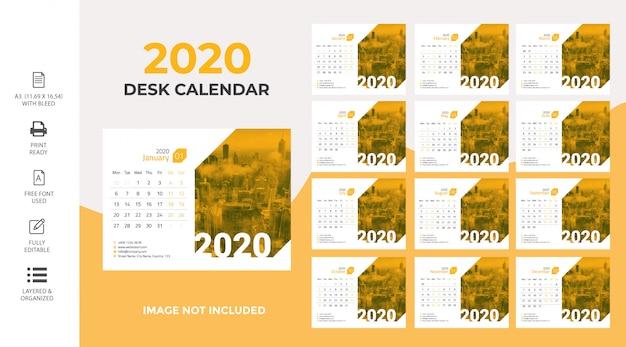 Calendário de mesa 2020 premium