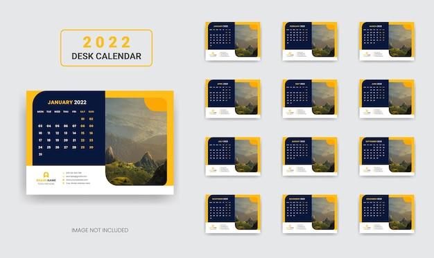 Calendário de mesa 2022 ano novo calendário de mesa do plano anual corporativo 2022
