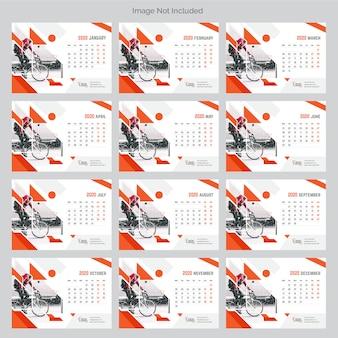 Calendário de mesa corporativo 2020