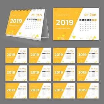 Calendário de mesa criativo 2019