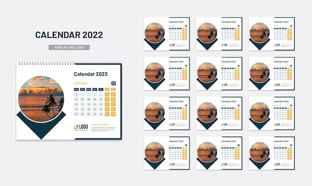 Calendário de mesa de ano novo 2022