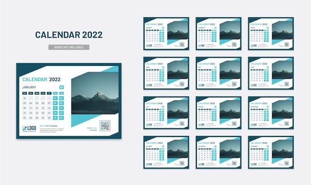 Calendário de mesa do ano novo, planejador de data 2022