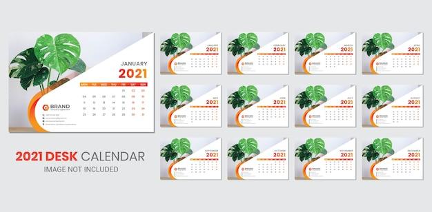 Calendário de mesa para 2021