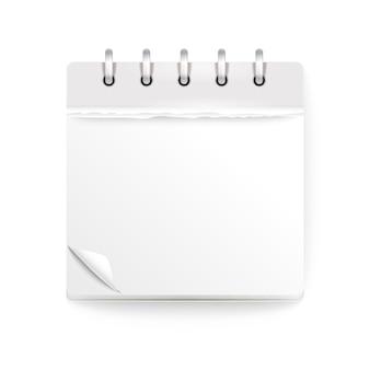 Calendário de papel isolado no branco