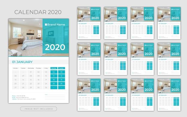 Calendário de parede 2020