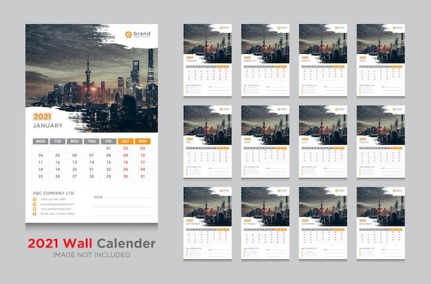 Calendário de parede 2021