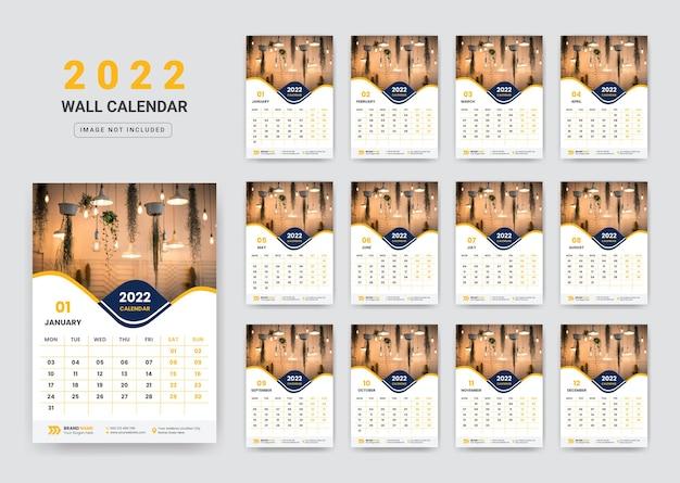 Calendário de parede 2022 calendário de parede da empresa corporativa 2022