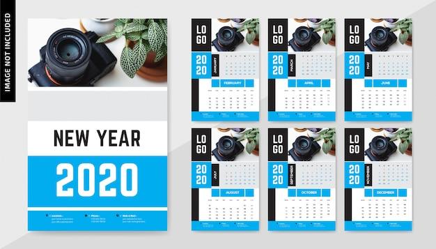 Calendário de parede de fotografia 2020
