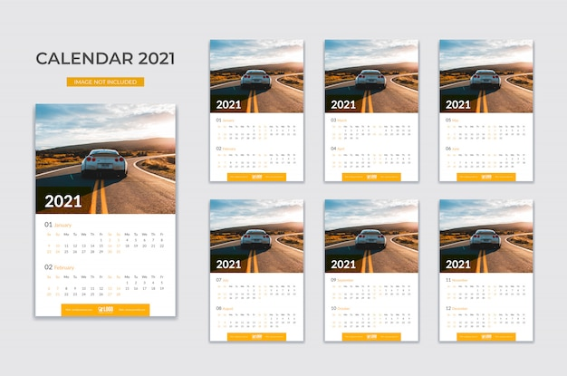 Calendário de parede, planejador de data
