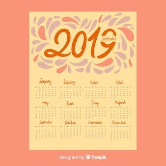 Calendário de respingos 2019