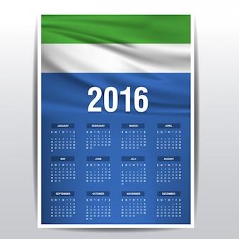 Calendário de serra leoa de 2016
