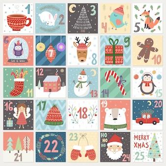 Calendário do advento de natal