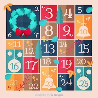 Calendário do advento de silhuetas