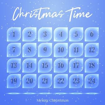 Calendário do advento do natal