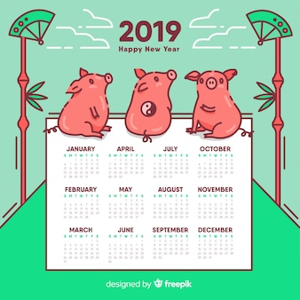 Calendário do ano novo chinês
