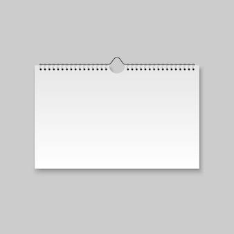 Calendário em branco realista