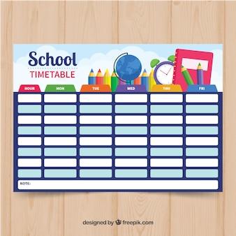 Calendário escolar azul