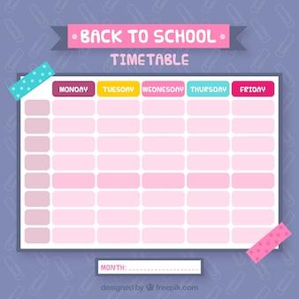 Calendário escolar bastante colorido