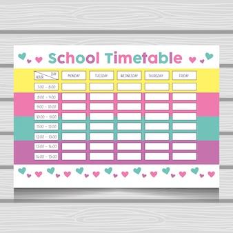Calendário escolar com universo de fantasia fofo